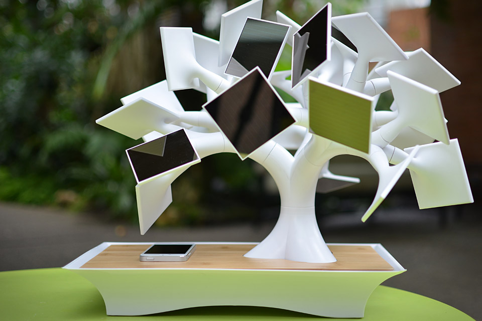 ElecTree Solar-Powered Bonsai Charger