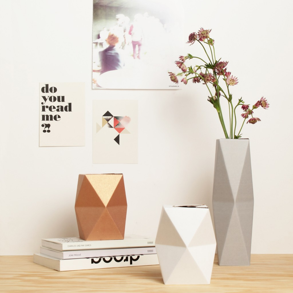 Geometric Folding Vases by Snug