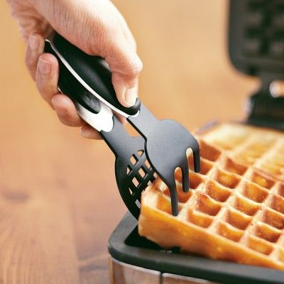 Silicone-Tipped Waffle Tongs