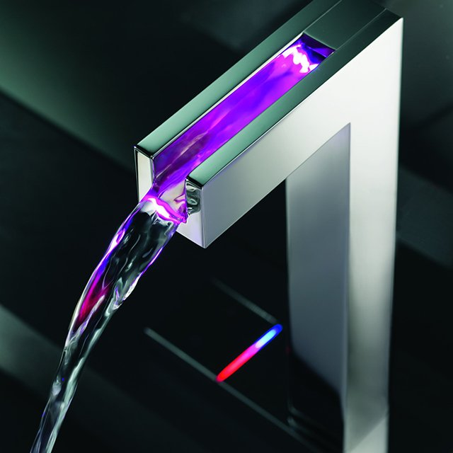 Temperature Sensitive LED Faucet by Hansa