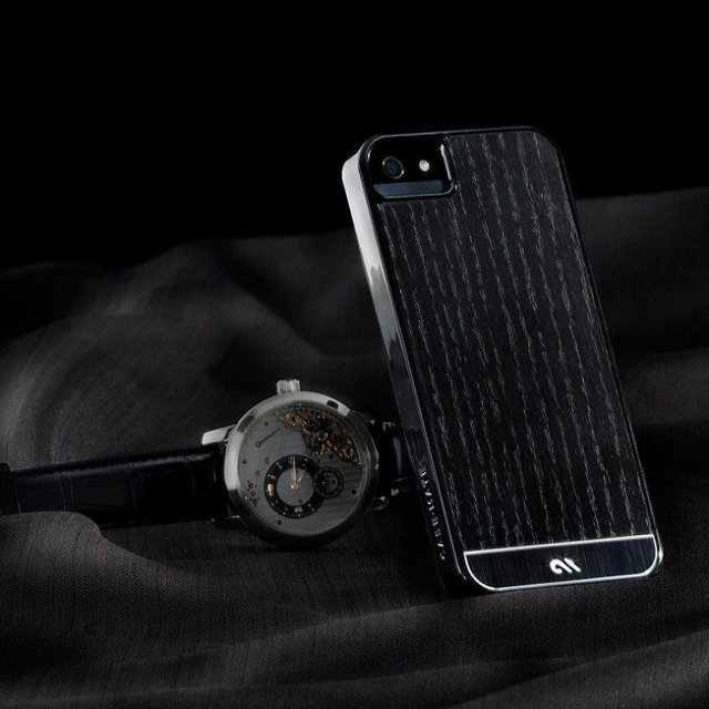 Blackened Ash Wood iPhone 5 Case