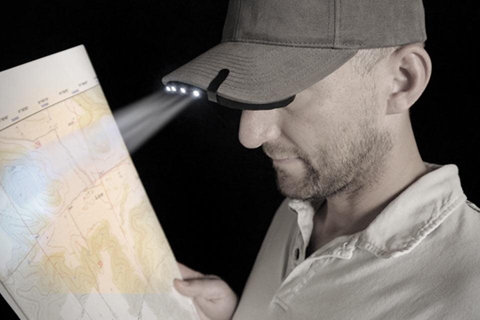 BrimLit LED Hat Clip-On Light