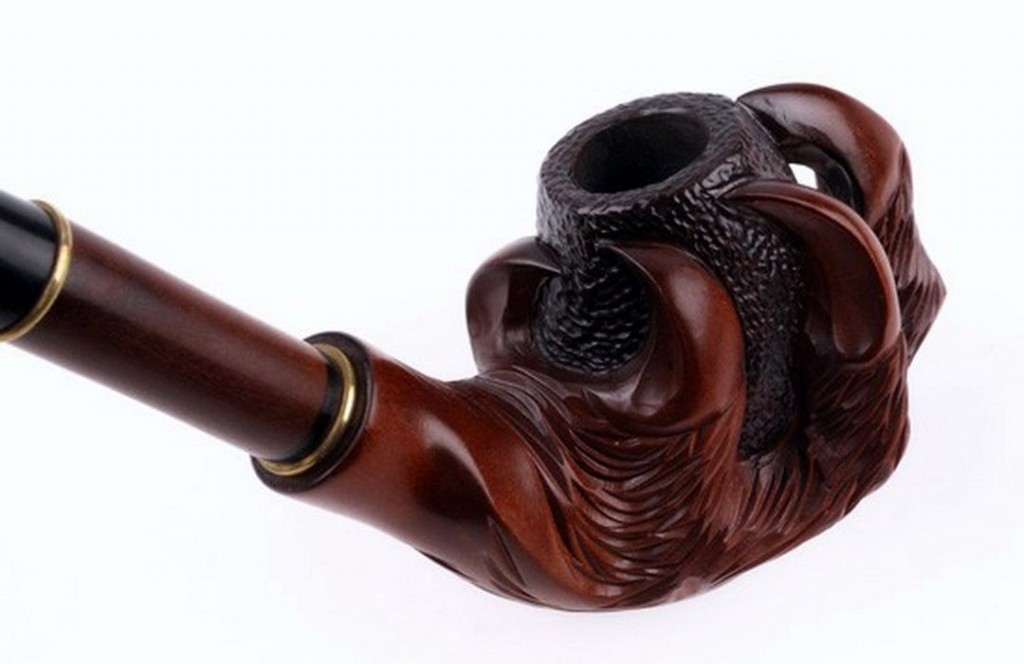 Hand Carved Claw Pipe