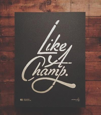 Like A Champ Print