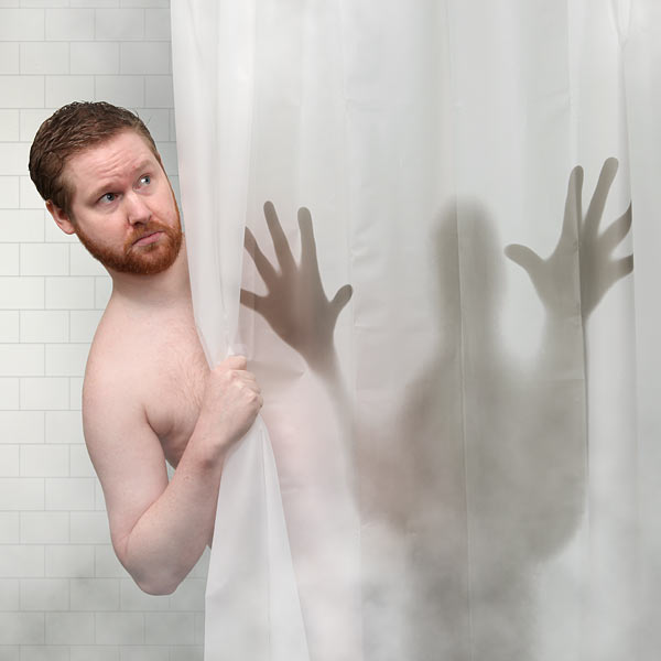 Scary Shower Curtain Petagadget