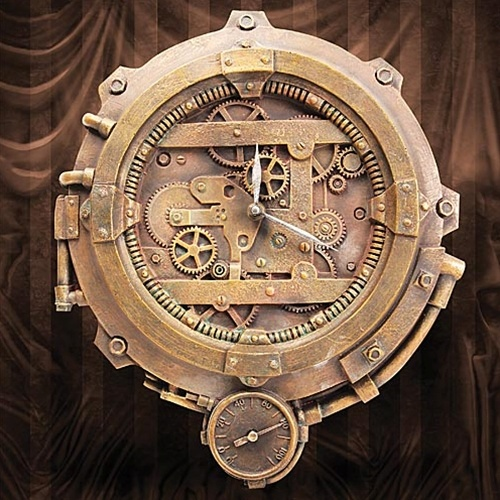 Steampunk Clock with Thermometer