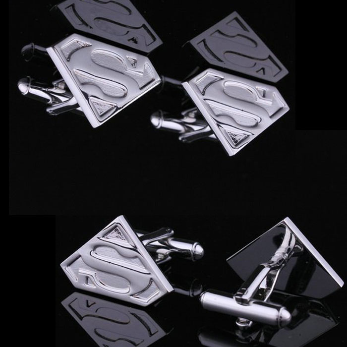 Superman Hero Symbol Shirts Men's Cufflinks