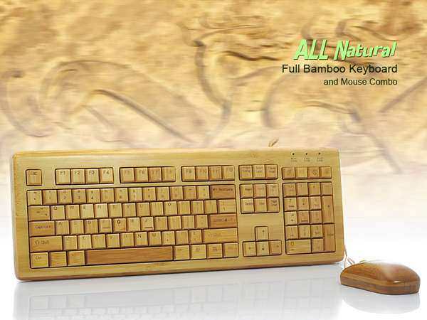 Wireless Bamboo Keyboard