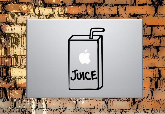 Apple Juice Box Macbook Decal