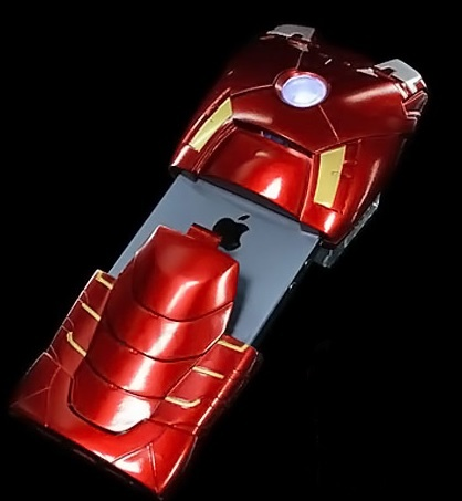Awesome Red Iron Man With Apple Logo Iphone 5 Case