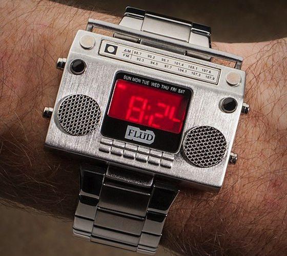 Boombox Wristwatch by Flud
