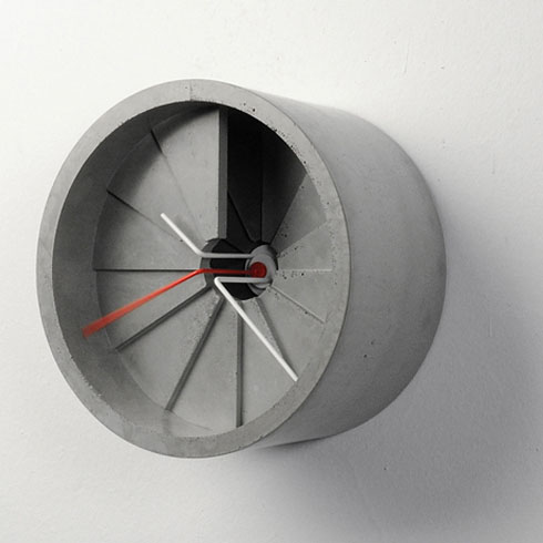 Concrete 4th Dimension Wall Clock
