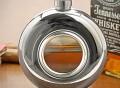 Engraved Round Window Flask