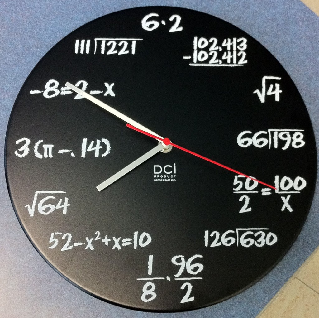 Genius Math Clock
