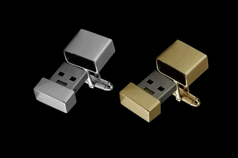 Gold USB Flash Drive Cufflinks