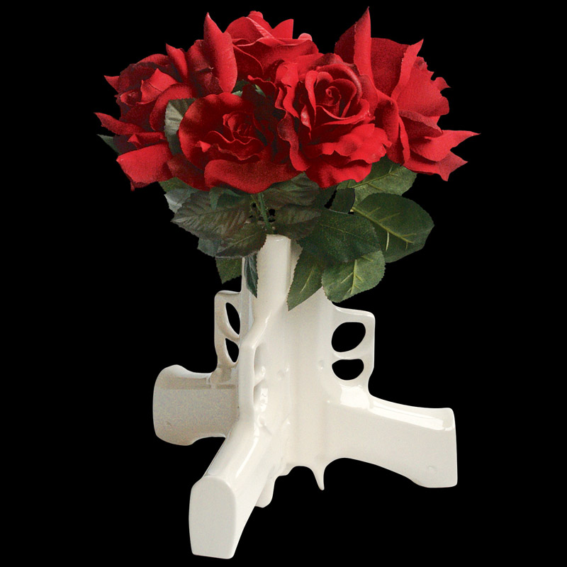Guns Table Vase