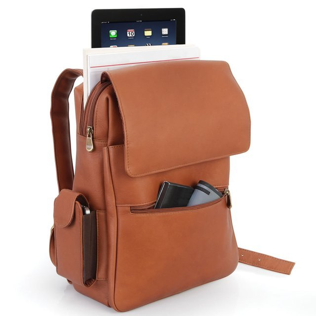 Leather iPad Backpack by Le Donne