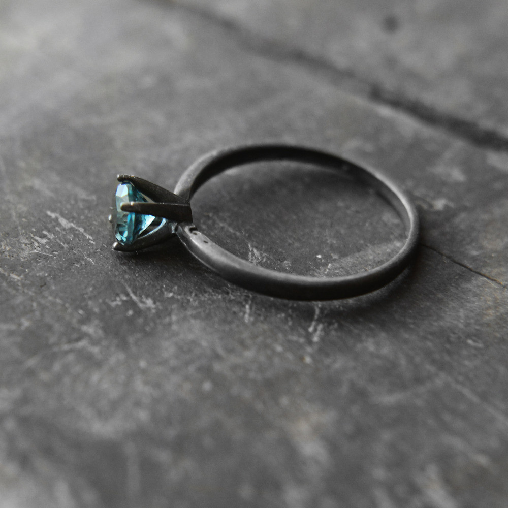 London Blue Topaz Oxidized