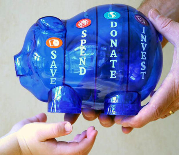 Money Savvy Pig 4-Chambered Bank