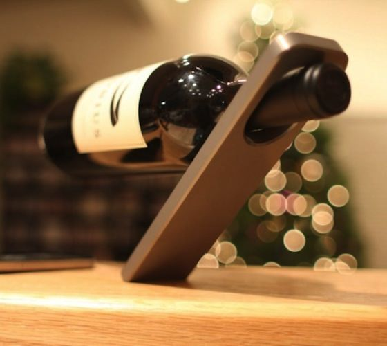 Oblique Cantilever Wine Bottle Holder