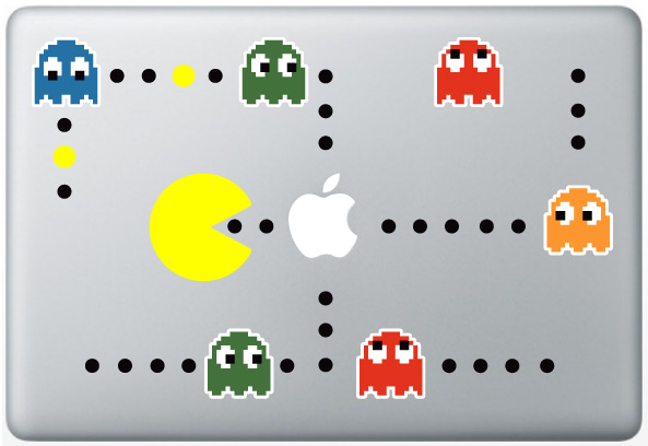 Pac Man Scene Macbook Decal
