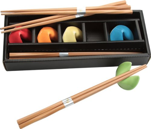Chopsticks and Assorted Fortune Cookie Rests