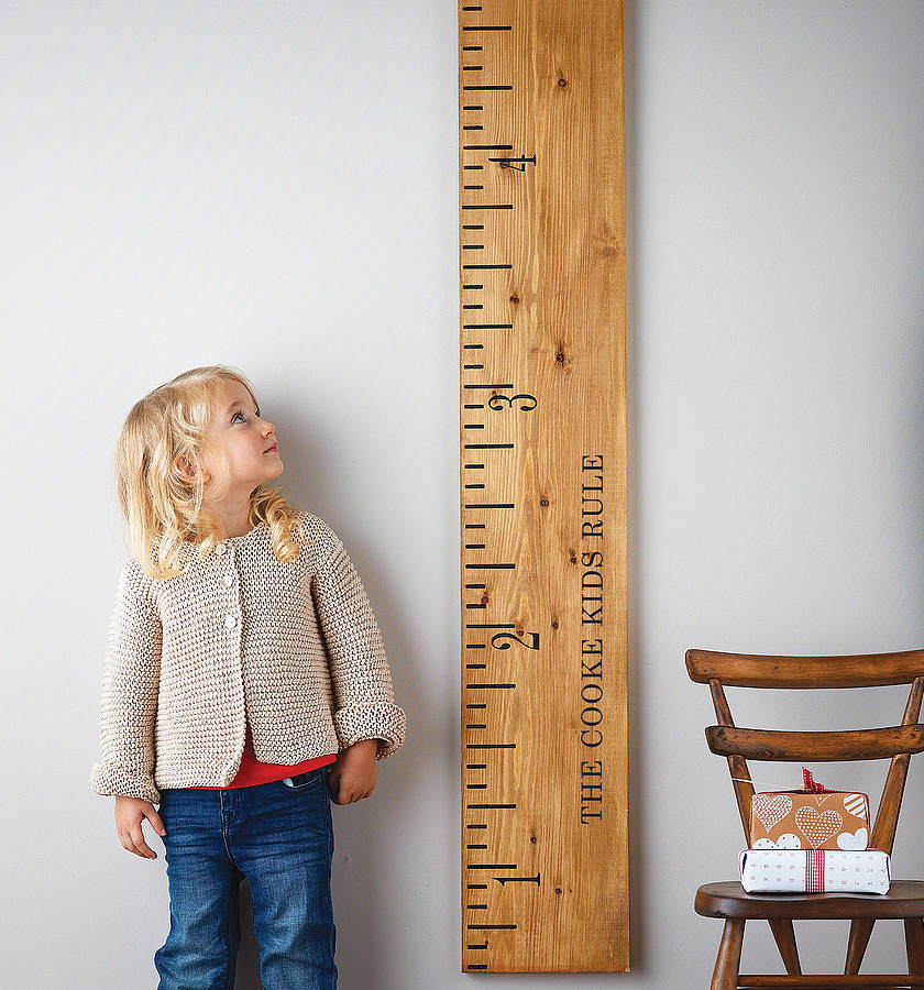 Wooden Ruler Height Chart