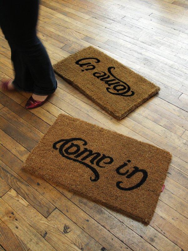 Come In and Go Away Reversible Doormat