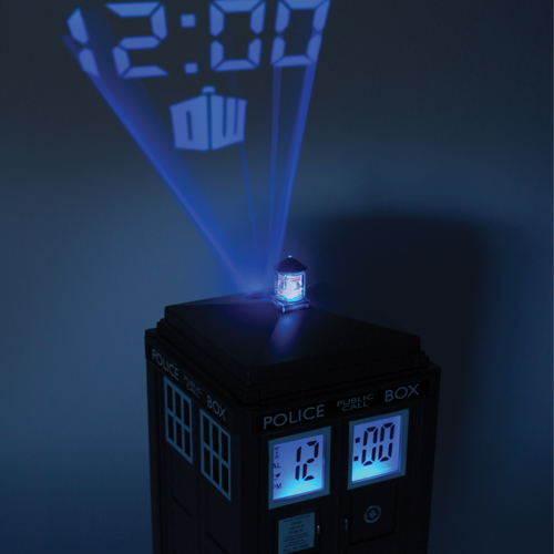 Tardis projection alarm clock petagadget - Tardis alarm clock ...