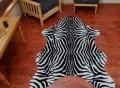 Faux African Safari Zebra Skin Rug