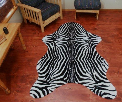 Faux African Safari Zebra Skin Rug » Petagadget