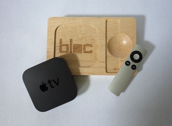 Hard Maple bloc for Apple TV