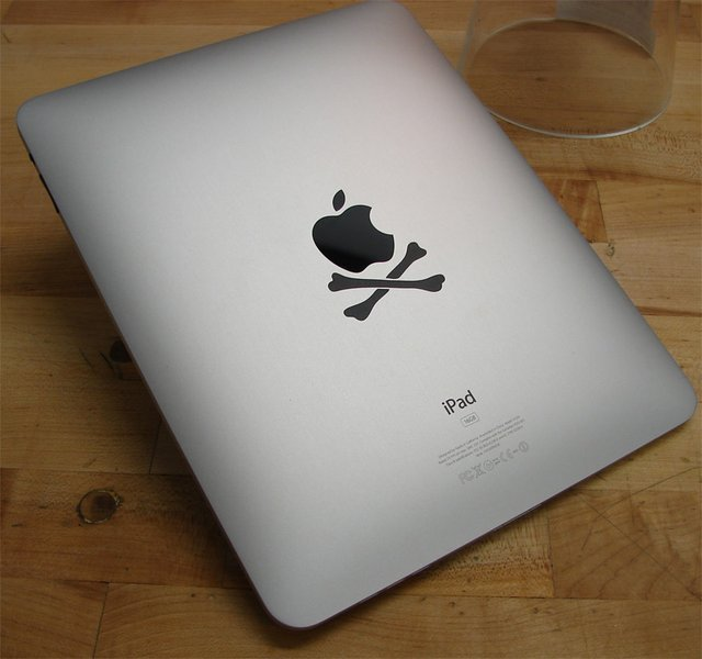 iPad Crossbones Decal