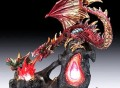 Gold Fire Dragon Lamp
