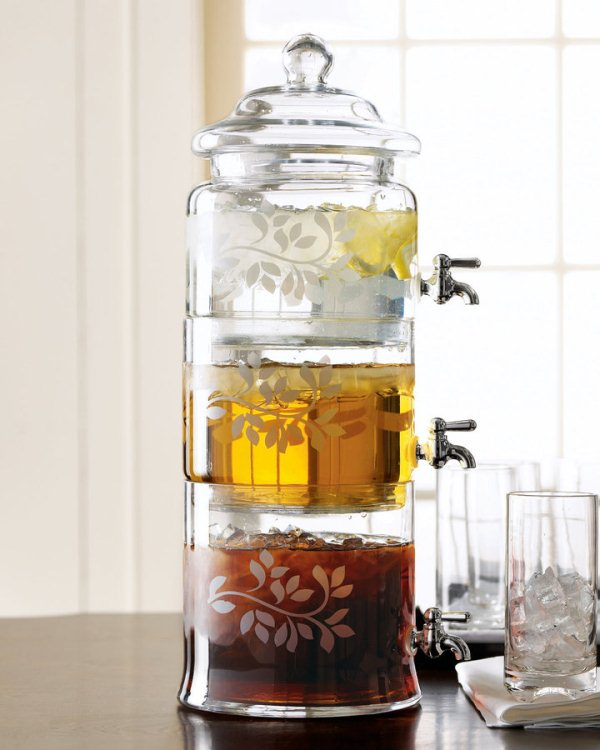 Stacked Glass Beverage Server