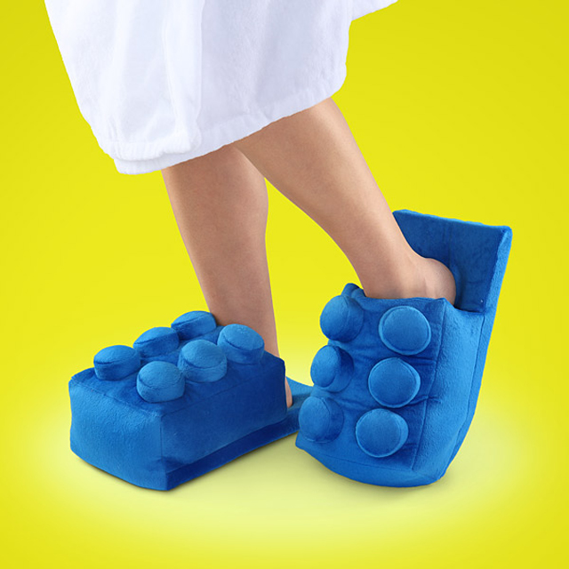 Building Brick Slippers