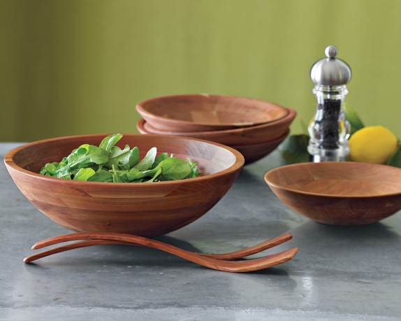 Cherry Wood Salad Bowls