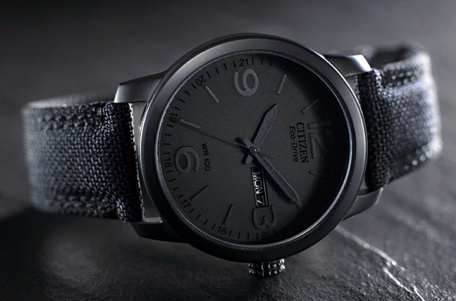 Citizen Men's Black Canvas Watch