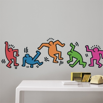 Keith haring decal satu sticker - Keith haring shower curtain ...