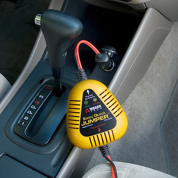 how to jump car battery without another car