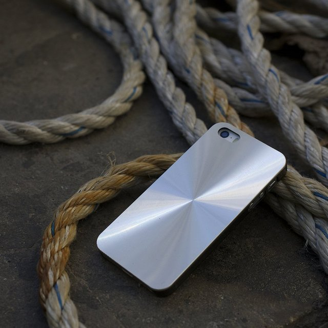 Metal Silver iPhone 5/5S Case