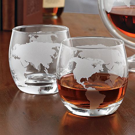 Globe Whiskey Glasses