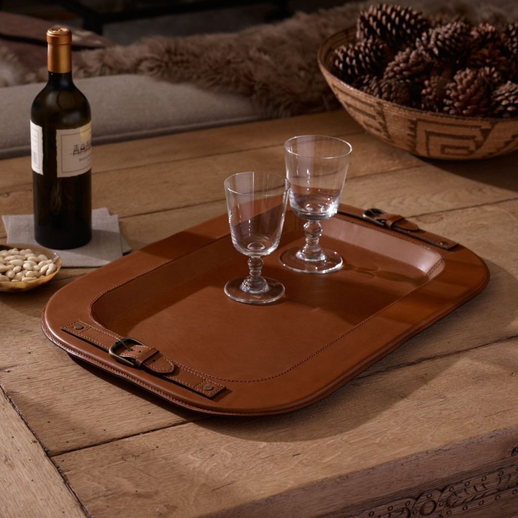 Hayden Leather Tray