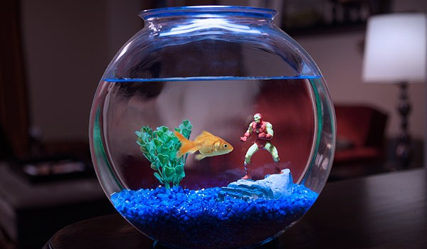 Iron Man Aquarium Ornament