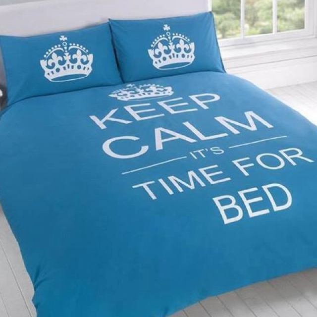 Keep Calm It's Time For Bed Cover