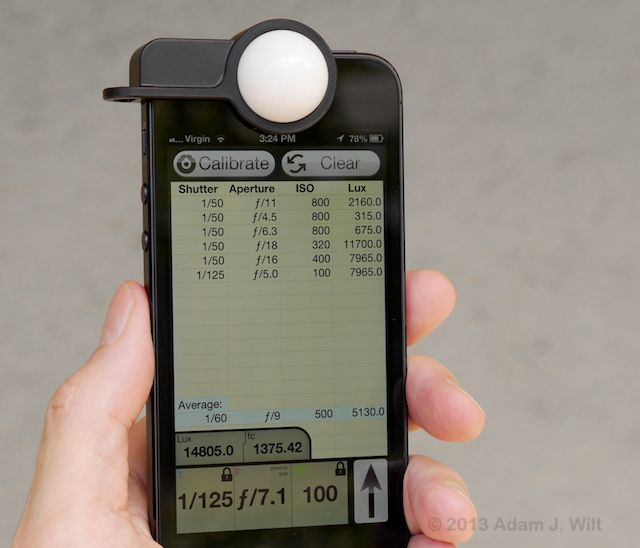 Luxi iPhone Light Meter