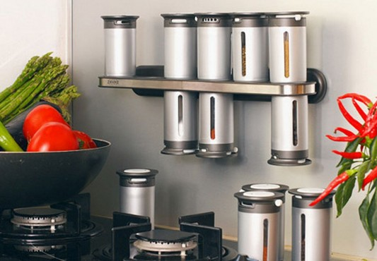 Magnetic Mountable Spice Rack