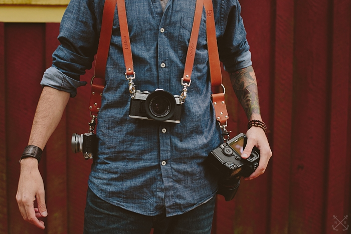 Money Maker Leather Camera Strap