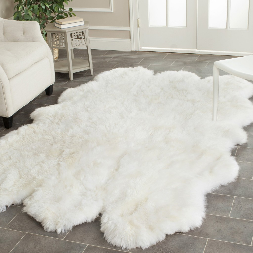 Prairie Sheepskin White Shag Rug