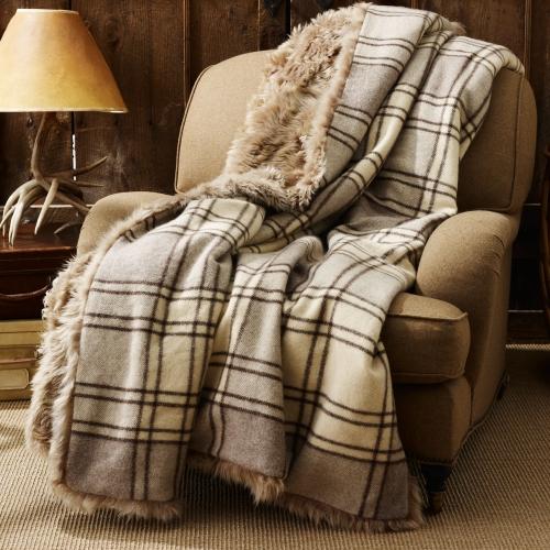 Alpine Lodge Shearling Blanket